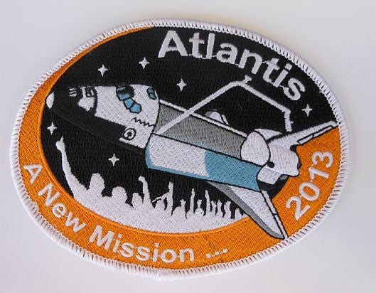 """Atlantis...A New Mission""  5"" Embroidered Patch"