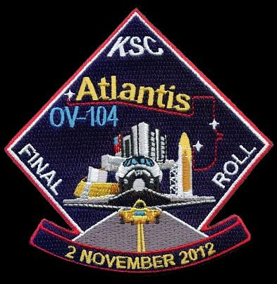 "Atlantis ""Celebrate the Journey"" Official Rollover Commemorative Patch - The Space Store"
