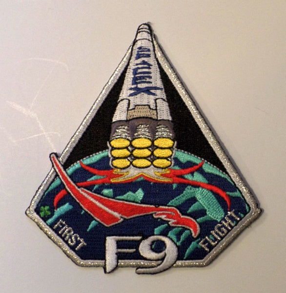 SPACEX PATCH FIRST FLIGHT OF FALCON 9
