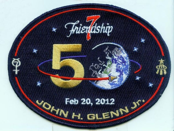 Friendship 7:  50th Anniversary Commemorative Patch