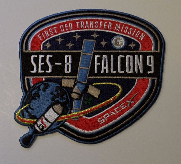 SPACEX MISSION PATCH SES-8