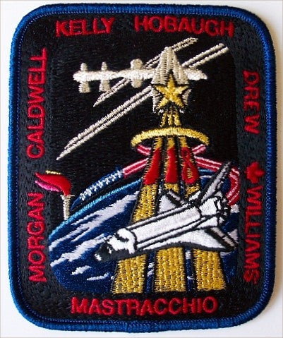 STS-118  Mission Patch (updated with Drew) - The Space Store