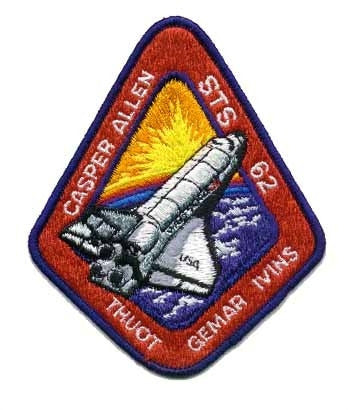 STS-62 Mission Patch - The Space Store
