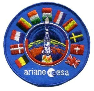 Ariane ESA Patch - The Space Store