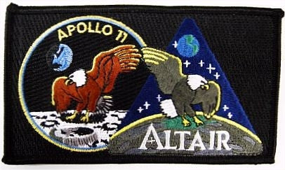 Apollo 11 'Eagle and Altair Eagle' - Patch - The Space Store