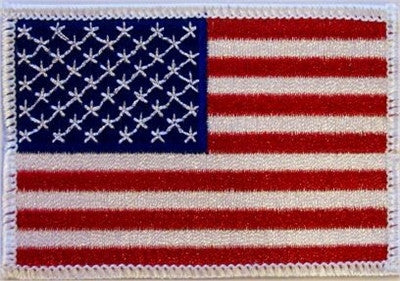 "American Flag"" (White Trim) - Patch"
