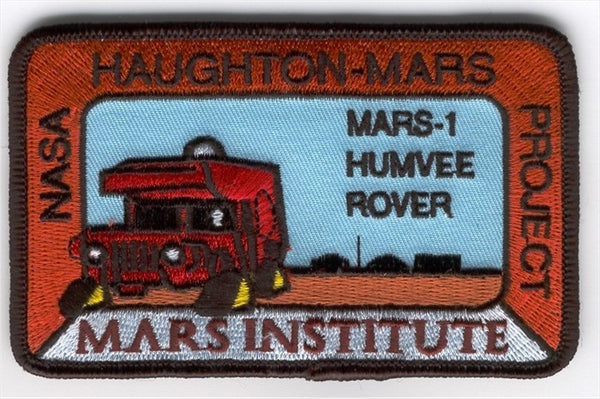 Mars Institute Mars-1 Humvee Rover Patch