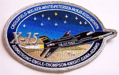 "X-15 Commemorative 4"" x 6"" Patch - The Space Store"