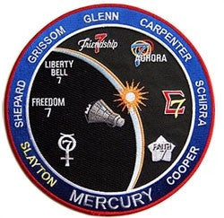 "Mercury Commemorative 8"" Patch - The Space Store"