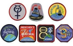 Mercury Missions Patch Set - The Space Store
