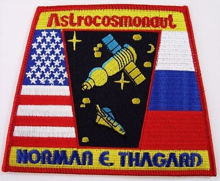 Astrocosmonaut Thagard Mission Patch - The Space Store