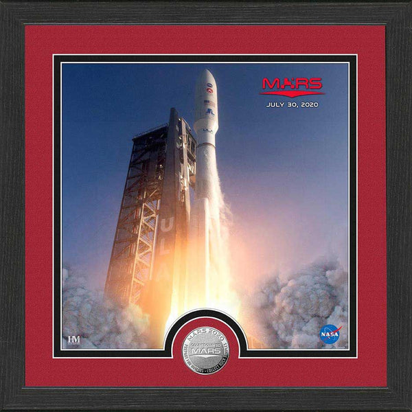 Mars Rover Launch 2020 Silver Coin Photo Mint Frame