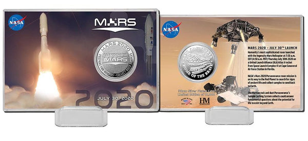 Mars Rover Launch 2020 Silver Coin Card