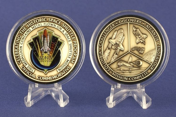 Space Shuttle Program Official NASA Mission Complete Commemorative - Medallion