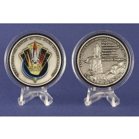 Space Shuttle Program Official NASA Commemorative Award - Silver Medallion - The Space Store