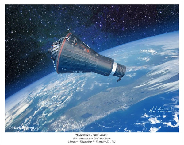 MERCURY - FRIENDSHIP 7  11 x 14 or 16 x 24 - The Space Store