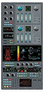 Spaceship Control Panel Accent Mural