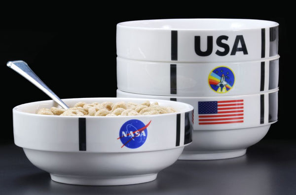 NASA Shuttle Stackable 4 Bowl Set