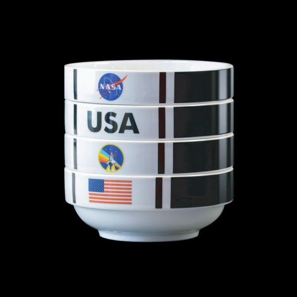 NASA Shuttle Stackable 4 Bowl Set - The Space Store