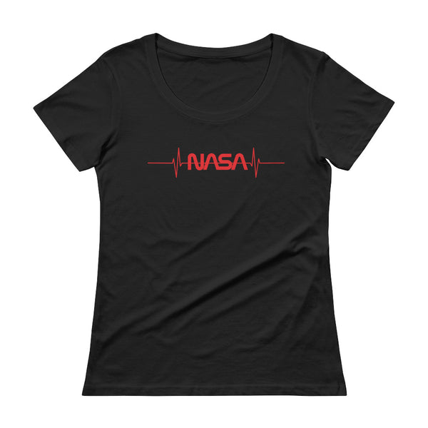 NASA 'PULSE' Ladies Sheer Scoopneck T-Shirt