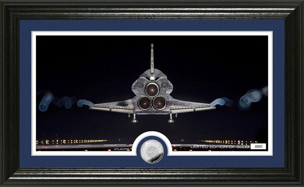Space Shuttle Atlantis Frame with Space Shuttle Coin