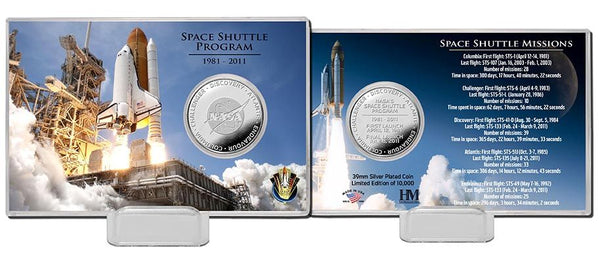 Space Shuttle Program Day Silver Coin Card - The Space Store