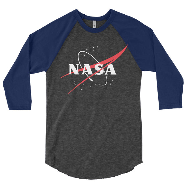 NASA 'VECTOR LOGO'  3/4 Sleeve Raglan Shirt - The Space Store