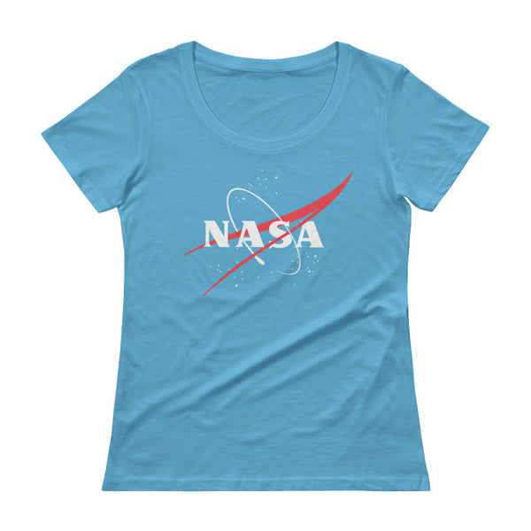 NASA 'Vector Logo' Ladies Sheer Scoopneck T-Shirt