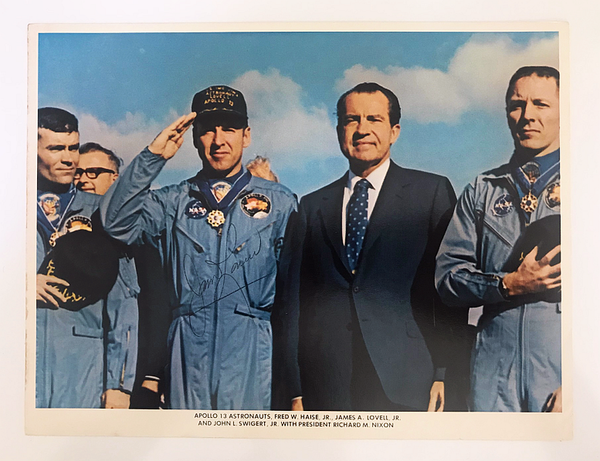 JIM LOVELL AUTOGRAPHED PHOTO