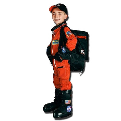 Full Astronaut 5 Piece Suit (Orange) - Size 6/8