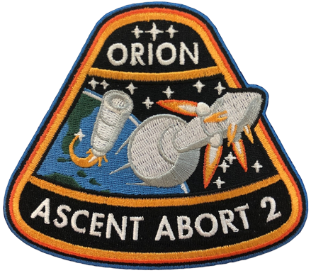 ORION AA-2   ORION ASCENT ABORT 2 MISSION PATCH - The Space Store