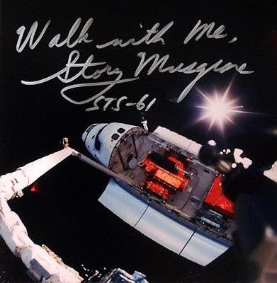 "On Top of the Shuttle Arm' in 10"" x 10"" and Autographed by Story Musgrave"