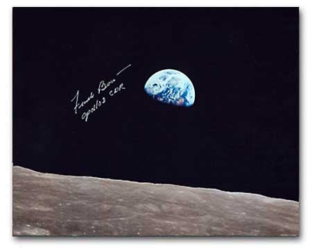 "Frank Borman  'EARTHRISE' 8"" x 10"" Autographed Photo"