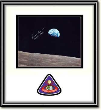"Frank Borman 'EARTHRISE' 8"" X 10"" Autographed Photo White Mat - The Space Store"