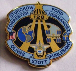 STS-128 Enamel Lapel Pin - The Space Store