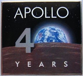 Apollo 11 40th Anniversary Lapel Pin - The Space Store