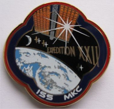 Expedition 22 Mission Lapel Pin