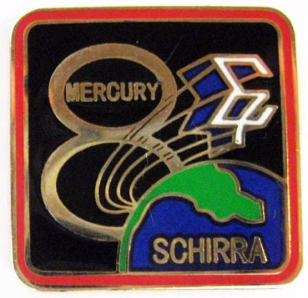 Mercury 8 Mission Lapel Pin