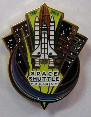 Space Shuttle 'End of Program' 1981 - 2011 Lapel Pin - The Space Store