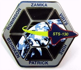 STS-130 Mission Lapel Pin