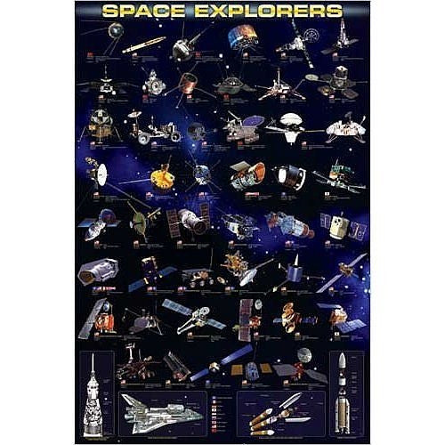 Space Explorers Poster - The Space Store