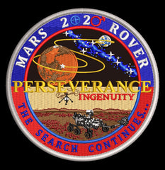 NASA Mars 2020 Perseverance Commemorative Patch by Artist Tim Gagnon