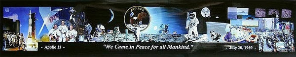 'For all Mankind' Panorama of Buzz Aldrin / Apollo 11 - The Space Store