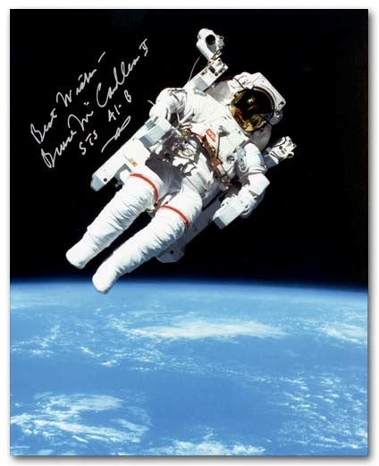 Autographed 16 x 20 Photo of Bruce McCandless