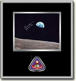 "Frank Borman 'EARTHRISE' 8"" X 10"" Autographed Photo Black Mat"