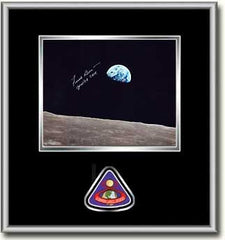 "Frank Borman 'EARTHRISE' 8"" X 10"" Autographed Framed Photo Black Mat"
