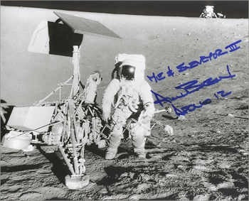 Autographed Photo - Alan Bean with Surveyor III