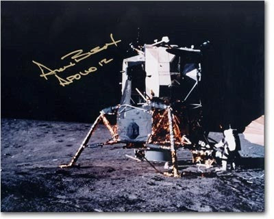 Autographed Photo - Alan Bean- Pete Conrad Working