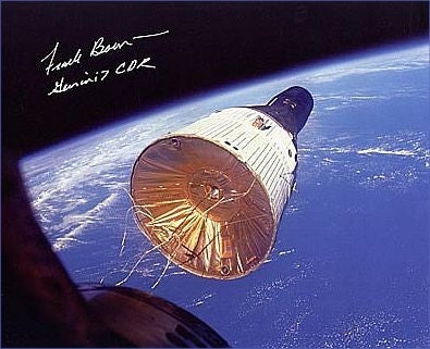 "Frank Borman 'Golden Ribbons' 8"" x 10"" Autographed Photo - The Space Store"