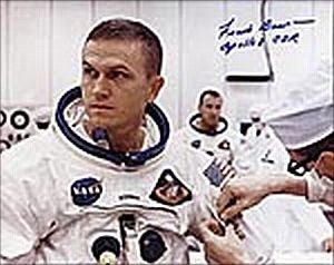 "Frank Borman 'Apollo 8 Suitup' 8"" x 10"" Autographed Photo - The Space Store"